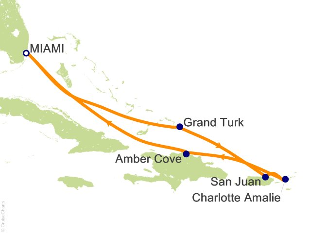 7 Night Eastern Caribbean from Miami Cruise on Carnival ...