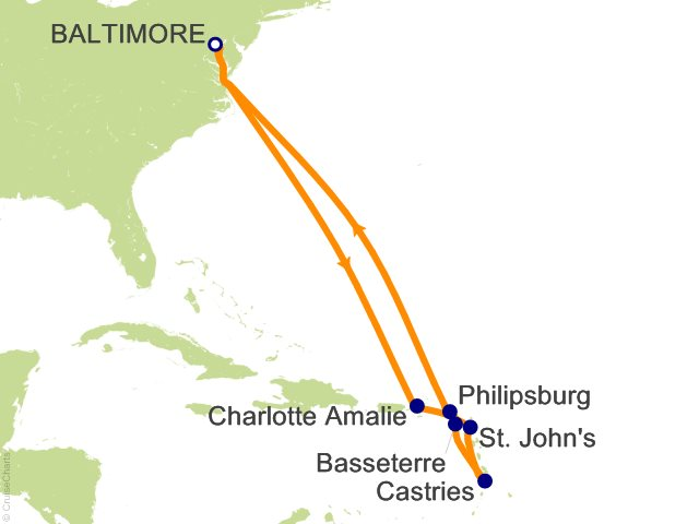 Night Southern Caribbean Cruise On Grandeur Of The Seas From - 3 day cruises from baltimore