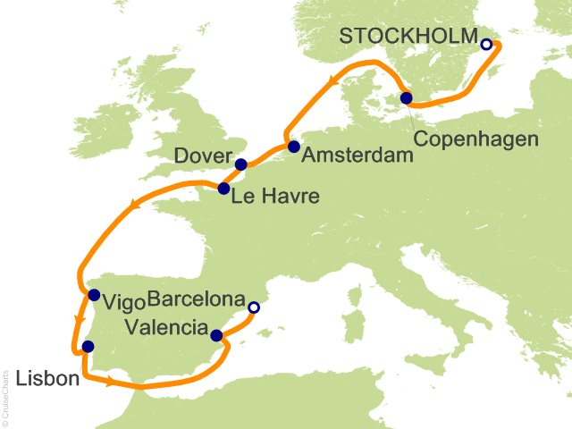 12 night grand tour of europe cruise on costa luminosa from 12 night grand tour of europe cruise from stockholm publicscrutiny Image collections