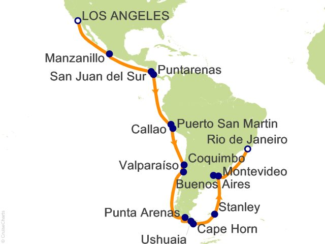 31 Night Andes And Cape Horn Grand Adventure Cruise On Crown Princess From Los Angeles Sailing