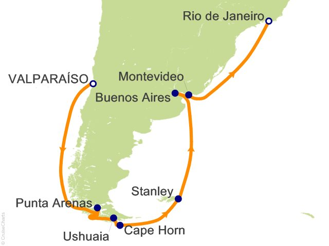 14 Night Cape Horn Route to Rio Cruise on Crown Princess ...