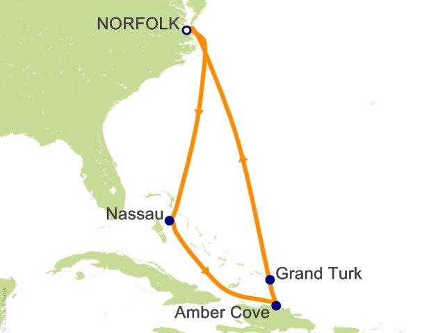 8 Night Eastern Caribbean Cruise On Carnival Sunshine From Norfolk Sailing Oc