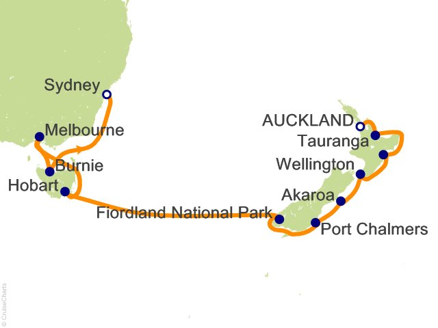 13 night australia and new zealand cruise from auckland