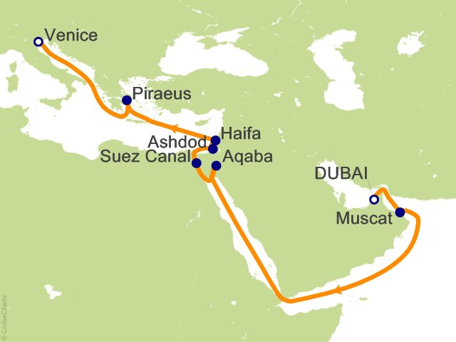 16 Night Suez Canal Cruise On Vision Of The Seas From