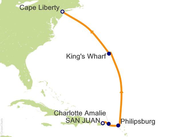 8 Night Bermuda and Caribbean Cruise from San Juan