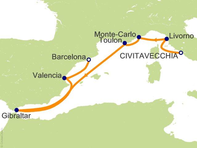 7 Night Mediterranean Cruise On Royal Princess From Civitavecchia Rome Sail