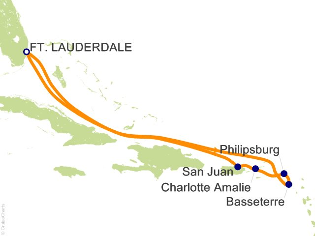 9 Night Southern Caribbean Cruise from Fort Lauderdale