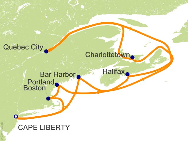 14 Night Canada and New England Cruise from Bayonne (Cape Liberty)