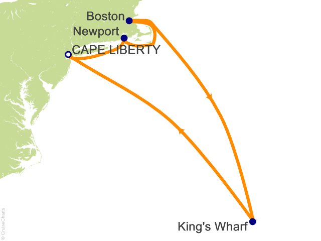9 Night Bermuda and New England Cruise from Bayonne (Cape Liberty)