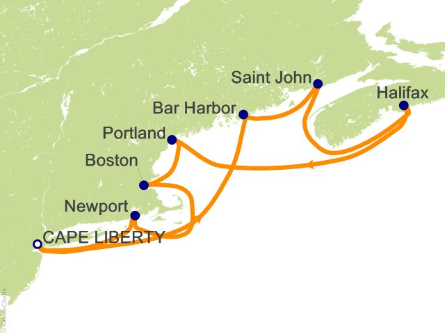 10 Night Independence Day Cruise Cruise from Bayonne (Cape Liberty)