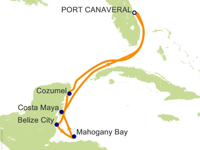 7 Night Western Caribbean from Port Canaveral (Orlando) Cruise from Port Canaveral