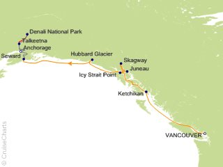 10 Night Authentic Tastes of Alaska Cruisetour 9A from Vancouver