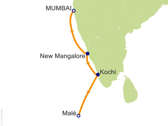 7 night india maldives cruise on costa neoriviera from mumbai 7 night india maldives cruise from mumbai formerly bombay gumiabroncs Image collections