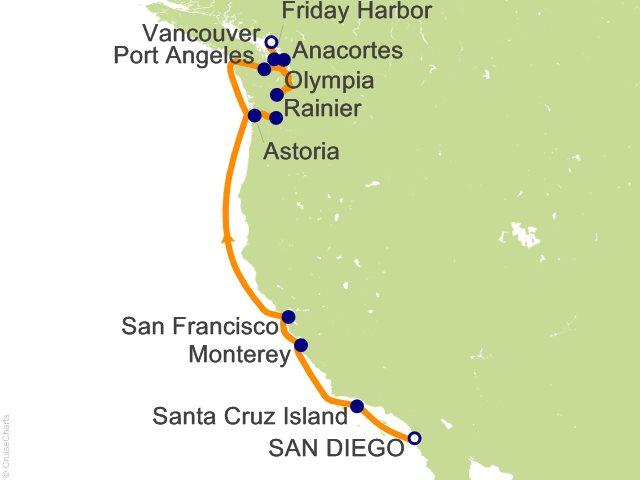 Night American West Coast Expedition Cruise On Silver Explorer - West coast cruises