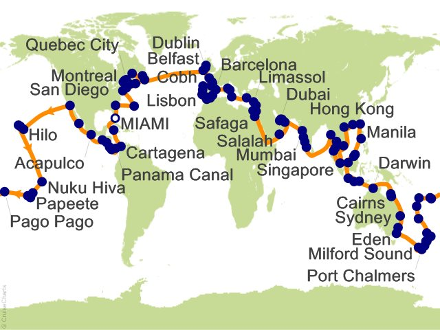180 night around the world in 180 days 2017 cruise on insignia from 180 night around the world in 180 days 2017 cruise from miami gumiabroncs Image collections