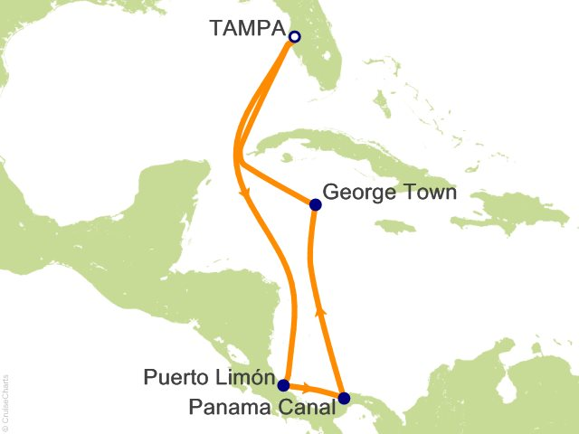 8 Night Panama Canal From Tampa Cruise On Carnival Miracle From Tampa Sailing February 2 2019