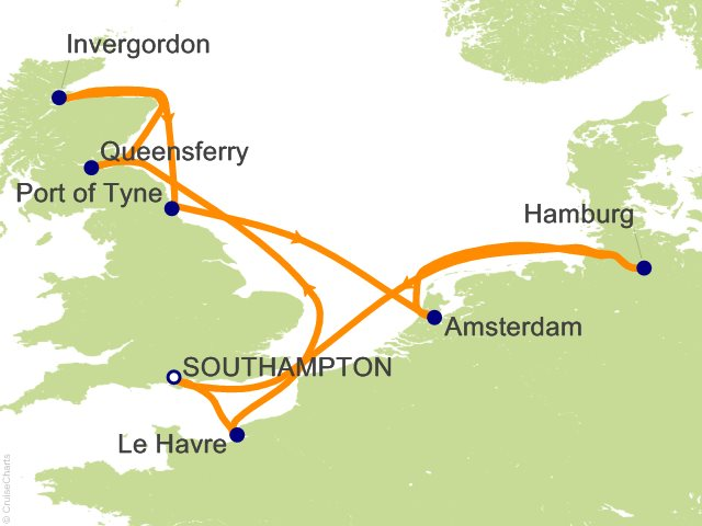 10 Night Northern Europe Cruise on MSC Magnifica from Southampton