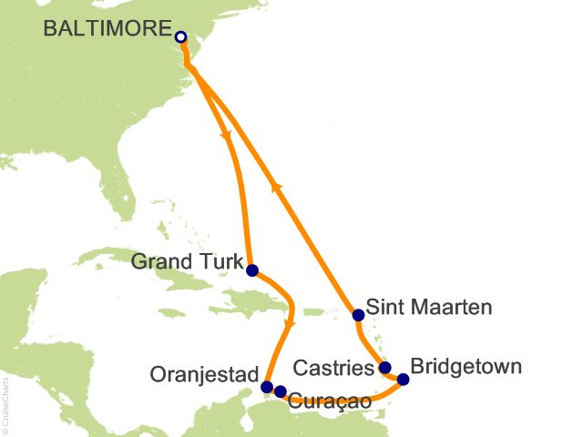Night Southern Caribbean From Baltimore Cruise On Carnival - 3 day cruises from baltimore