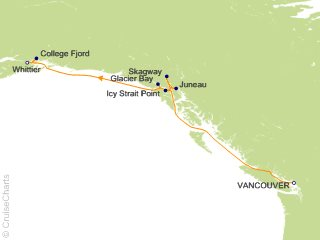 7 Night Voyage of the Glaciers Northbound Cruise from Vancouver