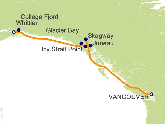 7 Night Voyage of the Glaciers Northbound Cruise