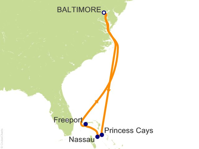 Night The Bahamas From Baltimore Cruise On Carnival Pride From - 3 day cruises from baltimore