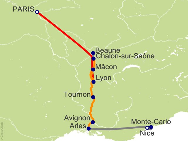 Night Paris To Nice And Sensations Of Southern France Cruise - Paris to nice