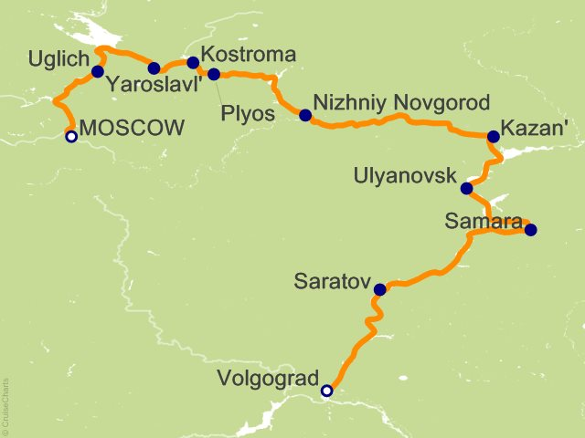 14 Night Imperial Russia Cruise on Scenic Tsar from Moscow sailing