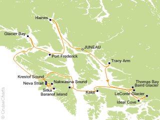 Frederick Sound Alaska Map.Un Cruise Adventures Alaska Cruises Cruise 14 Nights From Juneau