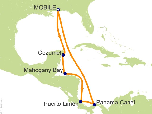 Carnival Panama C Cruise, 10 Nights From Mobile, Carnival ... on
