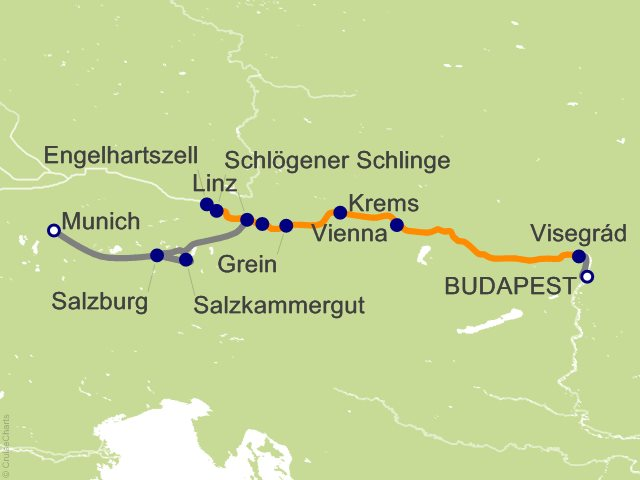 11 Night Active Discovery on the Danube with Salzburg Westbound