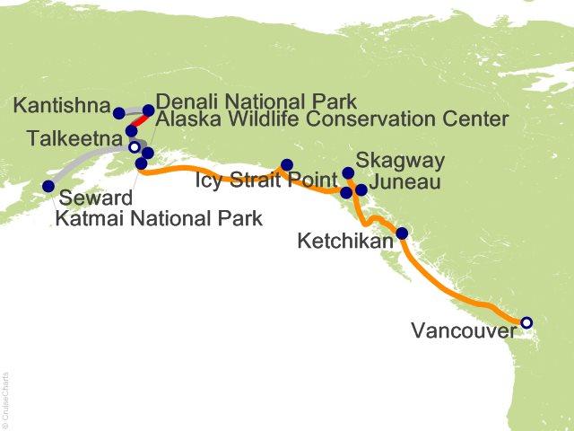 12 Night Escorted Katmai Bear Trek and Kantishna Fly Over Cruisetour