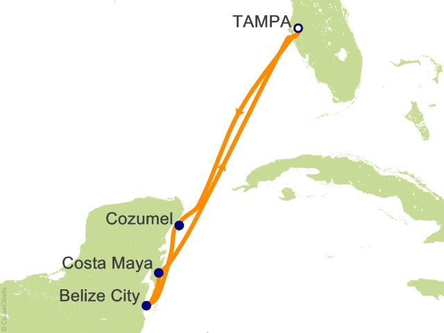 Image Result For Carnival Western Caribbean Cruise Map
