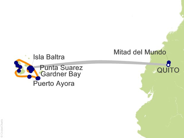 10 Night Quito and Galapagos Outer Loop Cruise and Land Tour