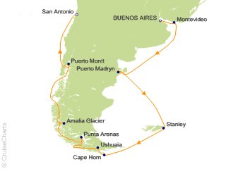 Cape Horn On South America Map.Princess South America Cruise 14 Nights From Buenos Aires Coral