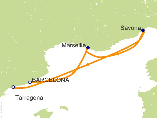 3 Night Mediterranean from Barcelona Cruise