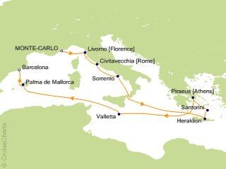 Oceania Mediterranean Cruise, 12 Nights From Monte Carlo