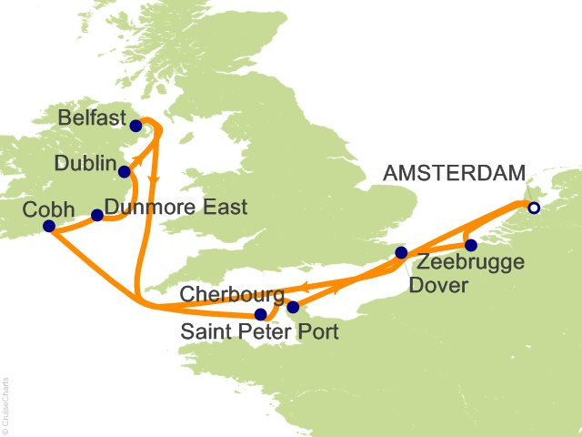 British Isles Celebrity Silhouette Cruises