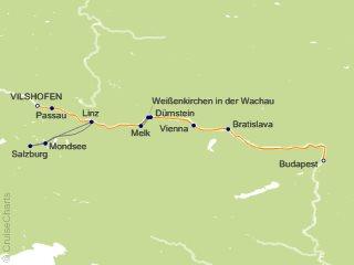 7 Night Romantic Danube Cruise from Vilshofen