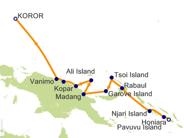 Night South Pacific Islands Expedition Cruise On Silver - Koror city map
