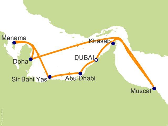 11 Night Dubai Abu Dhabi and India Cruise on MSC Lirica from Dubai