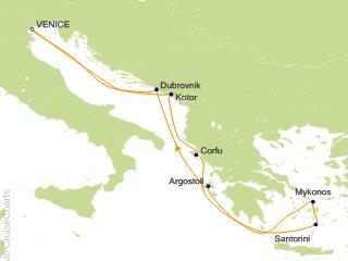 7 Night Greek Isles Round trip Venice   Santorini  Mykonos and Croatia Cruise from Venice