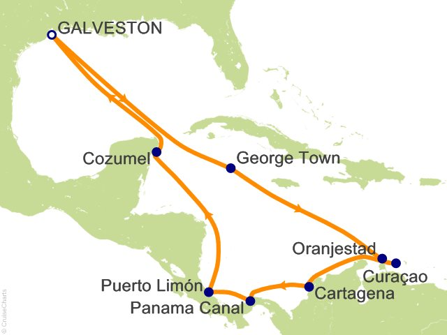 Carnival Panama Canal Cruise 14 Nights From Galveston