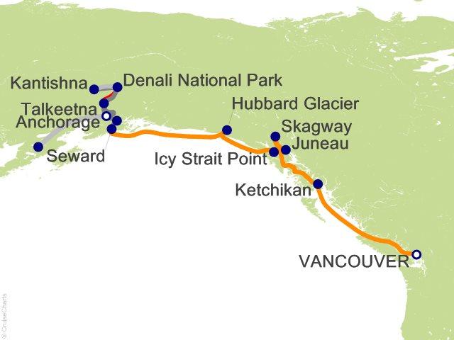 Royal Caribbean Alaska Cruise Tour 12 Night Katmai Bear