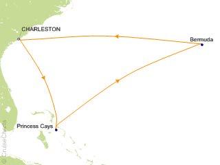 Carnival Bermuda Cruise 7 Nights From Charleston Carnival Sunshine - Bermuda-in-relation-to-us-map