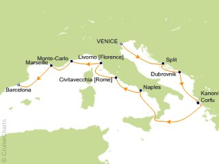 12 Night Mediterranean Odyssey Cruise from Venice