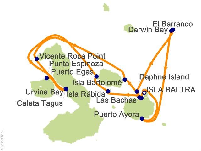 7 Night Galapagos Northern Loop Cruise