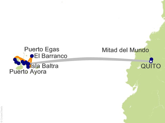 10 Night Quito and Galapagos Northern Loop Cruise and Land Tour
