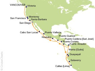 Holland America South America Cruise, 34 Nights From Vancouver ... on map of ancient african kingdoms, map of the habsburg monarchy, map of the venetian republic, inca empire, map of ancient egypt, map of the olmec civilization, map of the grand duchy of lithuania, map of ancient rome, map of ancient greece, map of incan society, map of the mayan civilization, map of the expansion of islam, map of the inca civilization, map of the northern kingdom of israel, map of the zulu kingdom, map of ancient china,
