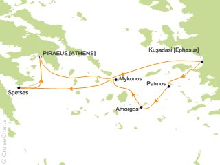 7 Night Northern Cyclades Cruise from Athens (Port of Piraeus)