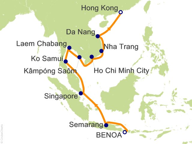 18 night bali benoa to hong kong cruise on seven seas voyager from 18 night bali benoa to hong kong cruise from benoa gumiabroncs Image collections